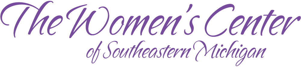 The Womens Center of Southeastern Michigan Purple Text Logo