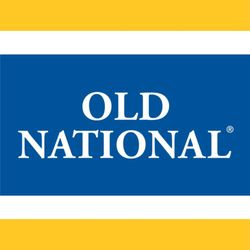Old National Bank logo blue and yellow