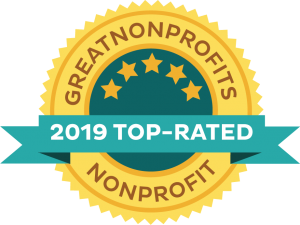 great non profits 2019 top rated award badge